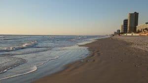 Ocean Shoreline At Dawn